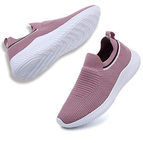 ANLUKE Womens Slip On Walking Shoes Casual Mesh Sneakers Lightweight Tennis Shoes Athletic Work Nurse Shoes