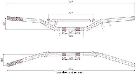 Manubrio universale diametro 22 mm per Moto Kyoto NC cc GUIMT 34-6