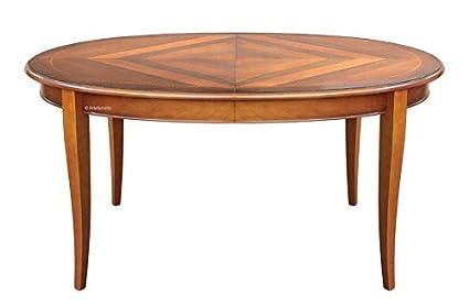 Mesa ovalada en madera, mesa extensible de comedor, mesa 160 cm ...