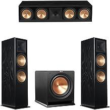 Klipsch 3.1 Black Ash System with 2 RF-7 III Floorstanding Speakers, 1 RC-64 III Center Speaker, 1 Klipsch R-112SW Subwoofer