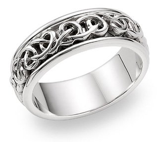 Celtic Knot Wedding Bands.Amazon Com Celtic Knot Wedding Band In 14k White Gold Jewelry