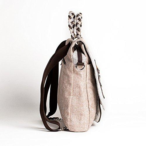 CQ bolso de hombro nacional del estilo de la lona ofrece bolso femenino tejido a mano del estilo de Yunnan Owl A