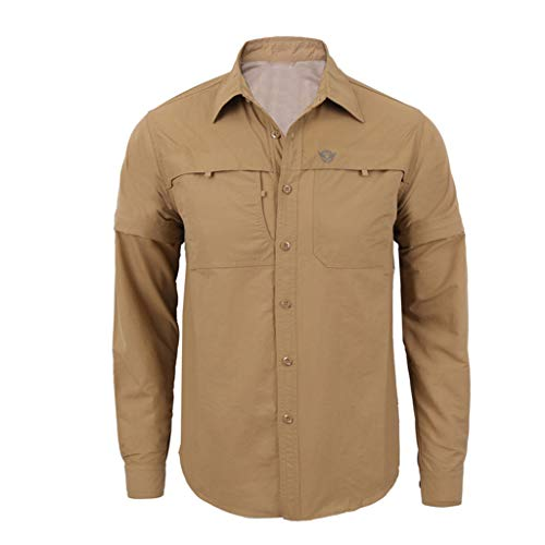 SFE Fashion Leisure Men's Quick-Drying Casual Military Pure Color Long Sleeve T-Shirt Tops Very Masculine Casual wear Khaki]()