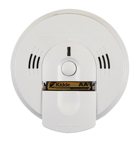 Kidde KN-COSM-IBA Hardwire Combination Smoke/Carbon Monoxide Alarm with Battery Backup and Voice Warning, Interconnectable - Kidde Hardwire Smoke Alarm