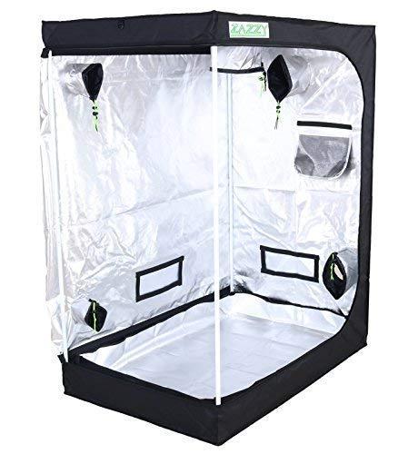 Zazzy 48'x48'x78' Plant Growing Tents 600D Mylar Hydroponic Indoor...