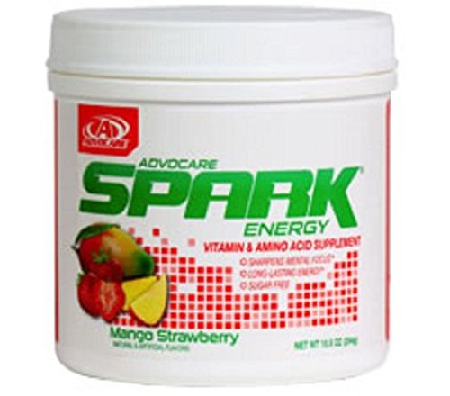 AdvoCare Spark Energy Drink (Mango Strawberry), 10.5 Ounce (Best Energy Drink For Gym)