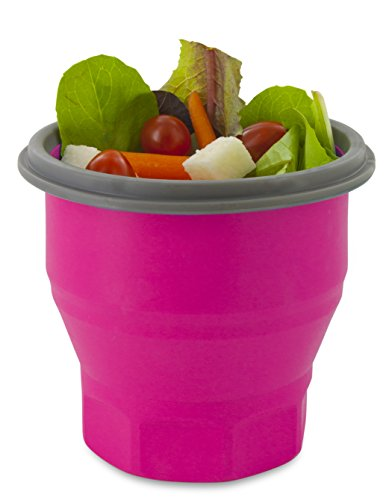 Smart Planet Collapsible Soup Salad Meal Kit, 26 oz, Pink