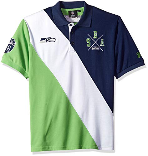 Seattle Seahawks Cotton Rugby Polo Diagonal Stripe Extra Large ()