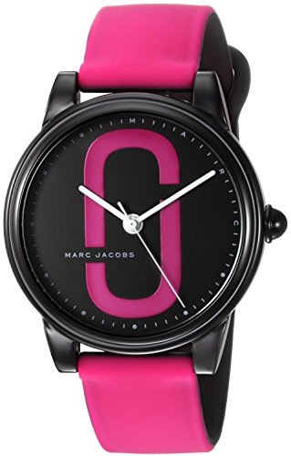 Marc Jacobs Women's 'Corie' Quartz Stainless Steel and Silicone Casual Watch, Color:Pink (Model: - Marc Pink Jacobs