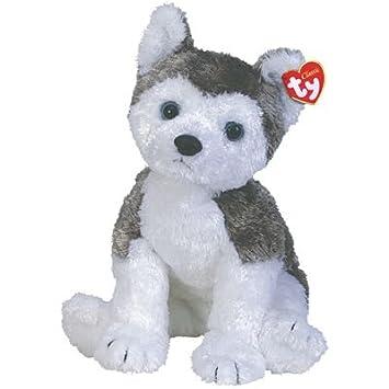 Ty Slush Perro de juguete Felpa Gris, Blanco - Juguetes de peluche (Perro de