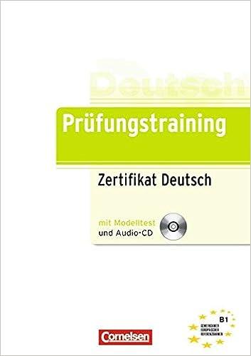 Prüfungstraining Daf B1 Zertifikat Deutsch übungsbuch Mit Cd
