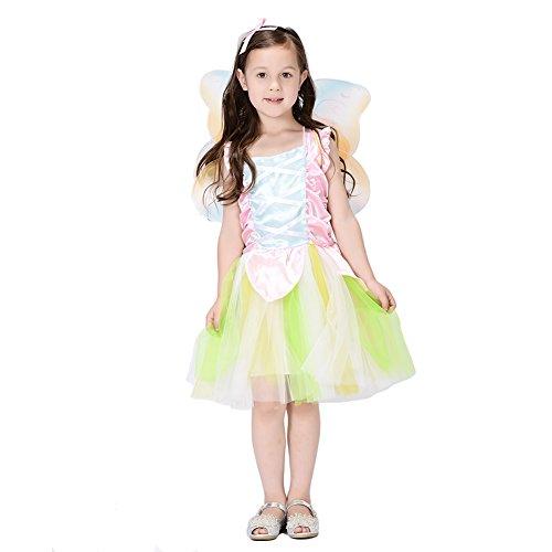 Green Fairy Kids Dress Costume (4-6 Years, Green) (Green Fairy Costumes)