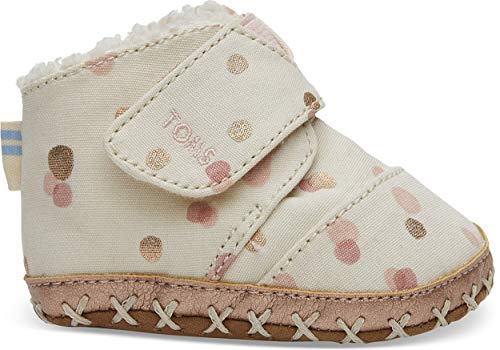 TOMS Kids Baby Girl's Cuna (Infant/Toddler) Pale Blush Party Dots 1 M US Infant