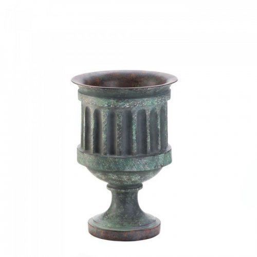 KOEHLER Weathered Pedestal Planter Copper Pedestal Planter