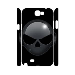 3D Alien Series, Samsung Galaxy Note 2 Cases, Alien Head Cases for Samsung Galaxy Note 2 [White]