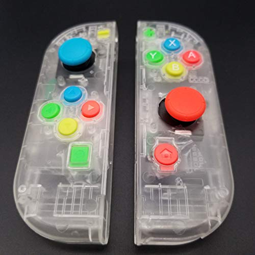 Full Housing Faceplate Handle Shells Case Cover with Battery Middle Frame Shell Plate ABXY Buttons and 3D Analog Joysticks Thumb Sticks Sensor for Nintendo Switch Controller Joy-Con Faceplate - Frame Housing Faceplate