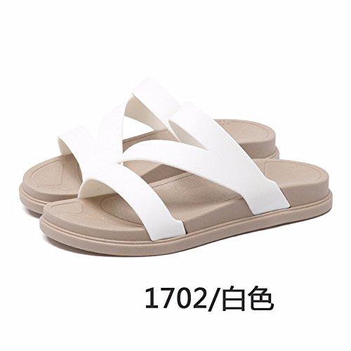 Outdoor sacar versión abajo espesor zapatillas playa nuevo dama de Blanco La moda Sommer zapatillas rutschfeste zapatos la coreana wHR7qZv