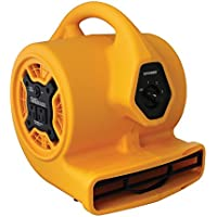 XPOWER P-130A Mini Mighty Air Mover, Utility Fan, Dryer, Blower with Build-in Power Outlets for Water Damage Restoration, Home and Plumbing Use - 1/5 HP, 825 CFM, 3 Speeds