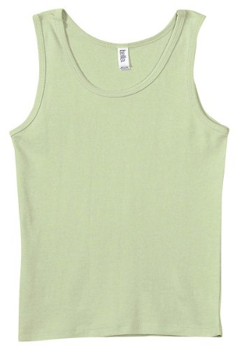 Bella Ladies' 1×1 Rib Tank Top 1080, Large, Lime Wedge