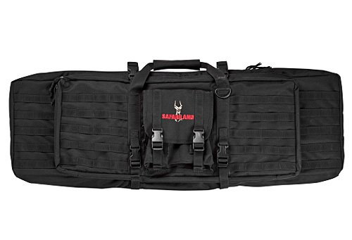 Safariland model 4552-46-4 Dual Rifle Case, Nylon, Black, M1/AR15 Full length - Black Nylon Gun Case