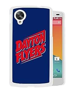 NCAA Dayton Flyers 04 White Hard Shell Phone Case For Google Nexus 5