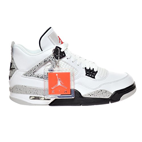 "Jordan Air 4 Retro OG ""Cement"" Men's Shoes White/Fire Red/Black/Tech Grey 840606-192 (12 D(M) - Jordan Red 4"