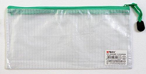 Strong PVC Smooth Mesh Zip Wallets Pencil Case. DL size 21.5 cm x 10 cm...
