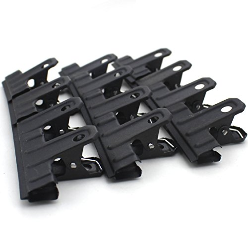 Zicome 53mm Black Large Metal Binder Clips Bulldog Clips, 12 Pack