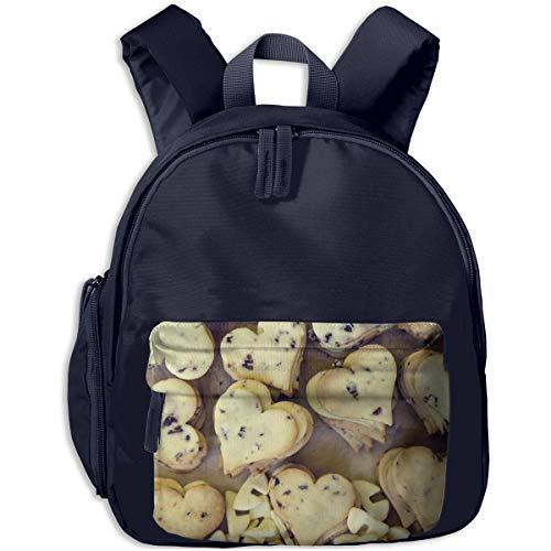 Cute Christmas Heart Shaped Animal Baking Cookies Children Backpack Pocket Zipper Outdoor Travel School Book Bag