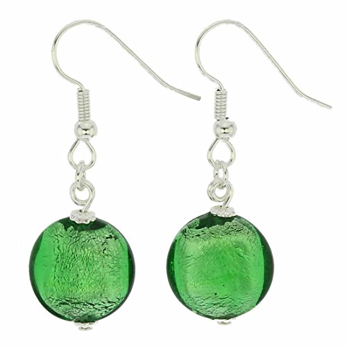 GlassOfVenice Murano Glass Antico Tesoro Disk Earrings - Silver Ocean