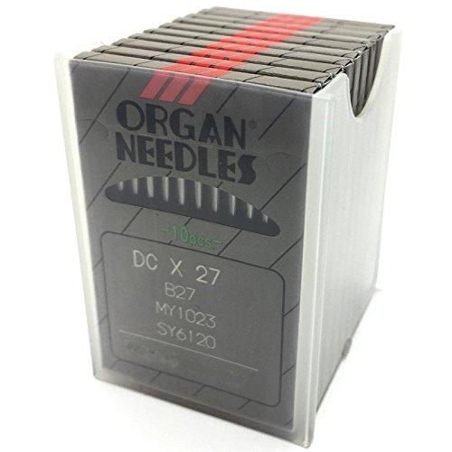 - 100 ORGAN DCX27 B27 Ball-Point Industrial Serger Overlock Machine Needles