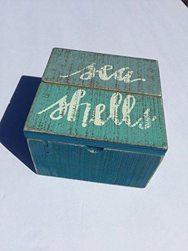 Primitives By Kathy, Sea Shells Wooden Trinket Jewelry Box