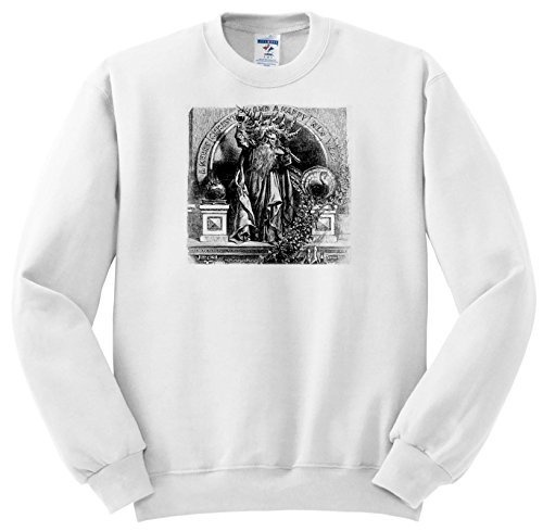 Scenes From The Past ephemera - Father Time Toasts To a Merry Christmas and a Happy New Year Vintage - Sweatshirts - Youth Sweatshirt XS(2-4) - New Year Happy Images Vintage
