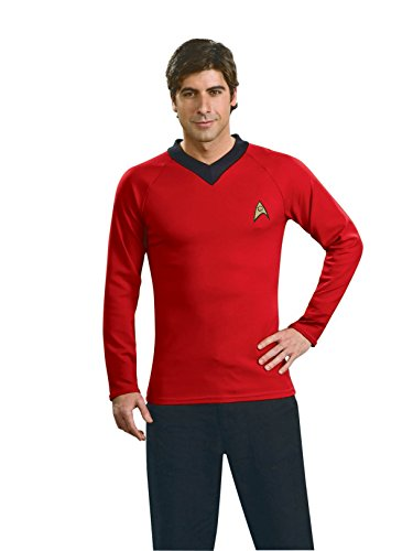 Star Trek Classic Deluxe Red Shirt, Adult Large Costume -