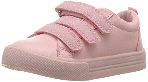 Price comparison product image Oshkosh B'Gosh Girls' Lennox Triple Strap Sneaker,  Pink,  5 M US Toddler