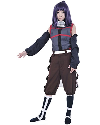 [Miccostumes Women's Log Horizon Akatsuki Cosplay Costume (XS, Grey and Brown)] (Log Costume)