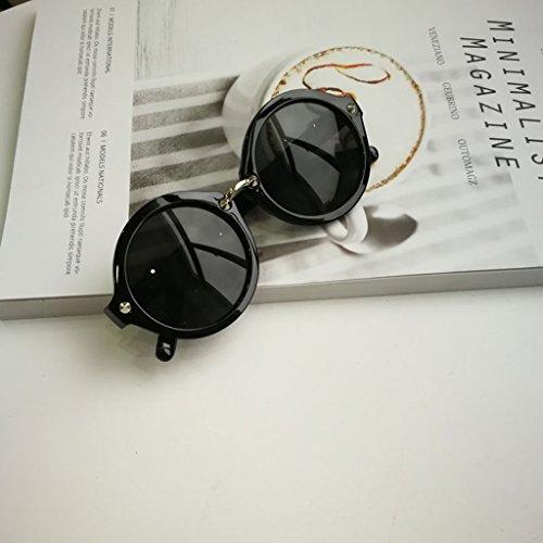 De Spectacles Goggles Plastique Vintage Rond Protection Soleil Noir En Rétro MagiDeal UV Lunettes AxgOXX