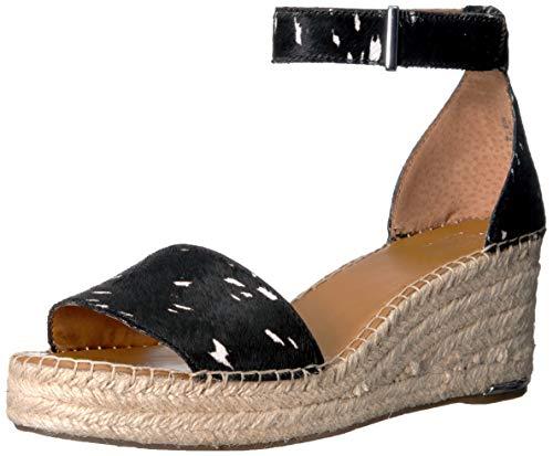 Franco Sarto Women's Clemens Espadrille Wedge Sandal Black Hair Calf 7 M US ()
