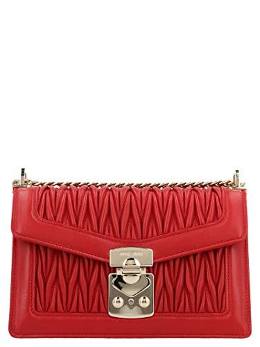 Miu Miu Red Bag - Miu Miu Women's 5Bd083ooon88f068z Red Leather Shoulder Bag