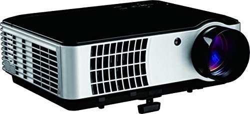 Inland HD High Lumen Digital Projector, Black & Silver (05549)
