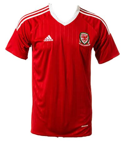 Euro 2016 Cup Wales National Soccer Team Home Jersey + get Mr. Sport box as a GIFT (Large)