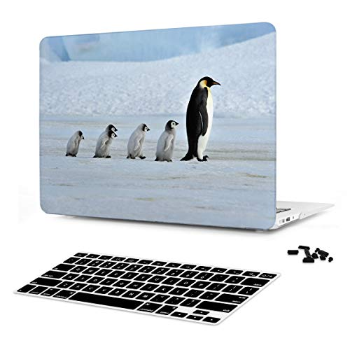 Batianda [Emperor Penguin] Pattern Print Hard Case Cover for MacBook Air 13 inch (Model: A1466 and A1369) with Keyboard Skin - M514]()
