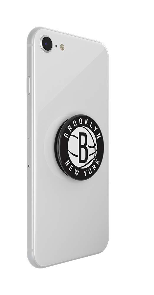 PopGrip with Swappable Top for Phones /& Tablets Brooklyn Nets Logo NBA PopSockets