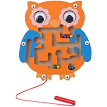 HS Anmial Shaped Wooden Maze Toy Kids Children Education Learning Labyrinth Balance Toys (Owl random color)