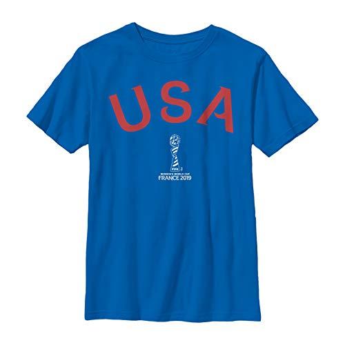 FIFA Women's World Cup France 2019 Boys' Classic USA Text Royal Blue T-Shirt