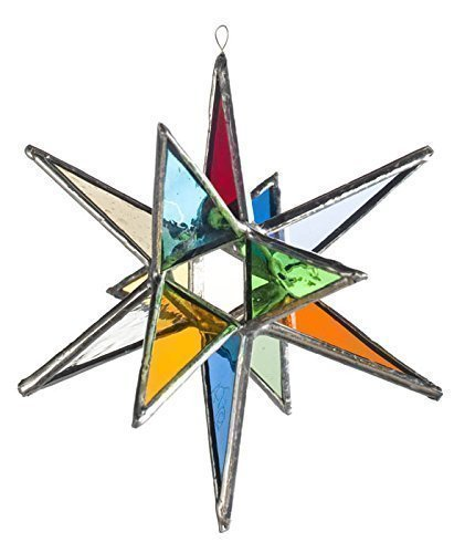 Multi Colored Star, Moravian Stained Glass Star, Twelve for sale  Delivered anywhere in USA