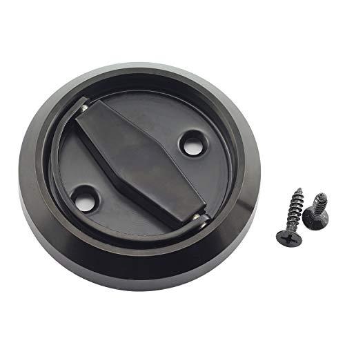 Tegg 1 PC Cabinet Wardrobe Door Knobs Fireproof Disk Ring Handle Recessed Pull Handle Black