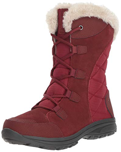 Columbia Women's ICE Maiden Ii Mid Calf Boot, marsala red, silver sage, 9.5 Regular US