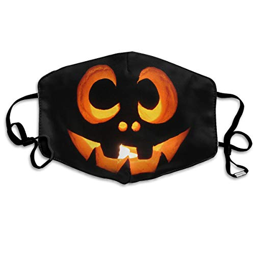 (TDynasty Unisex Mouth Mask Fashion Halloween Pumpkin Filters Breathable Masks Can Be Washed Reusable for Outdoor)