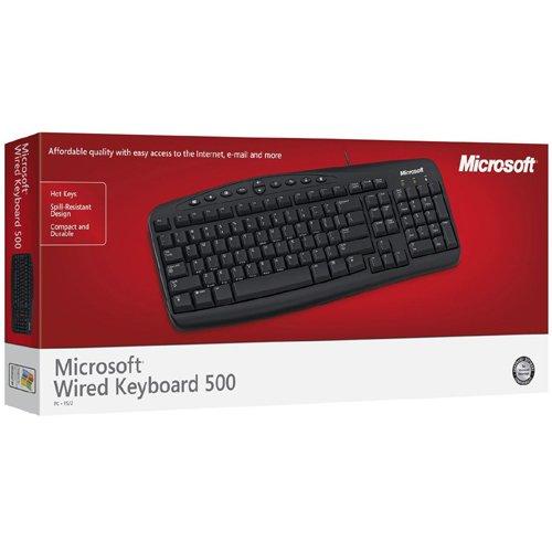 Microsoft RT2300 Wired Keyboard 500